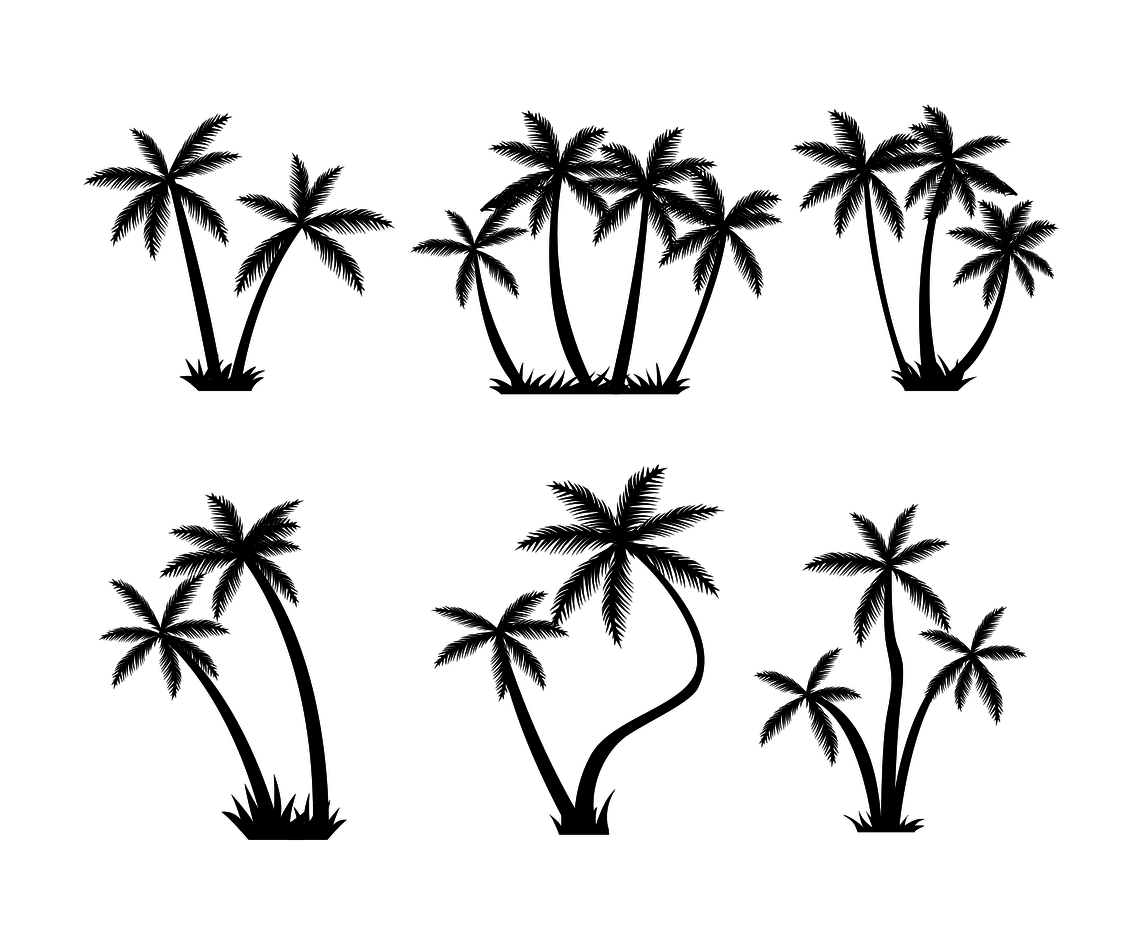 Free Palm Tree Silhouette Vector