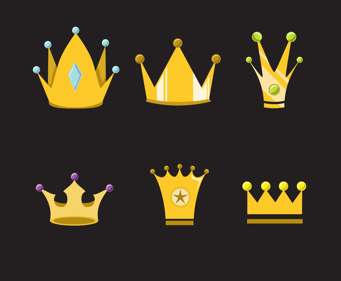 Stylish Cartoon Crown Vector