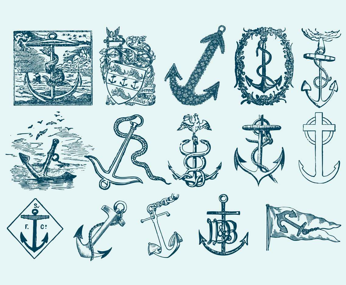 Vintage Anchor Draws