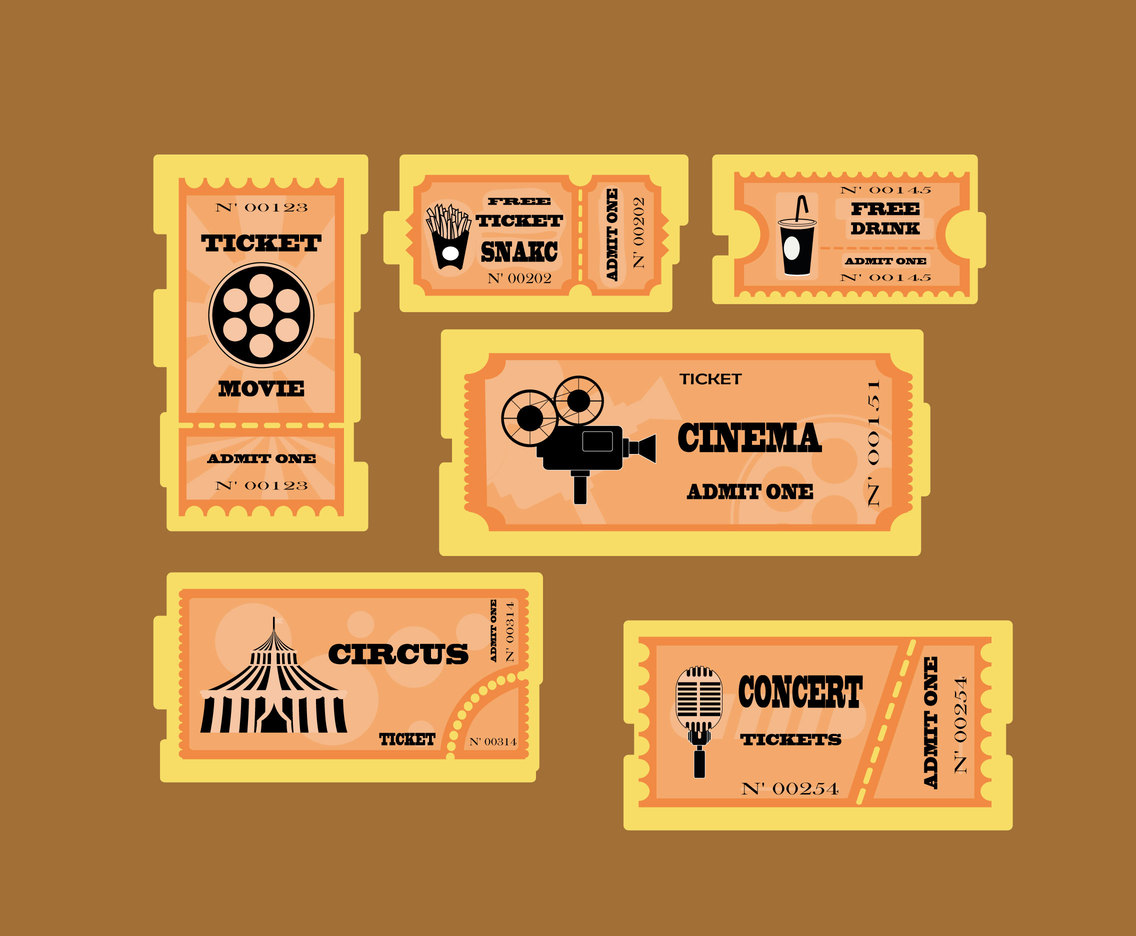 Various Tickets Vector