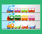 Train cartoon vector