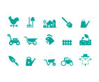 Vector Set of Farm Animals Icons