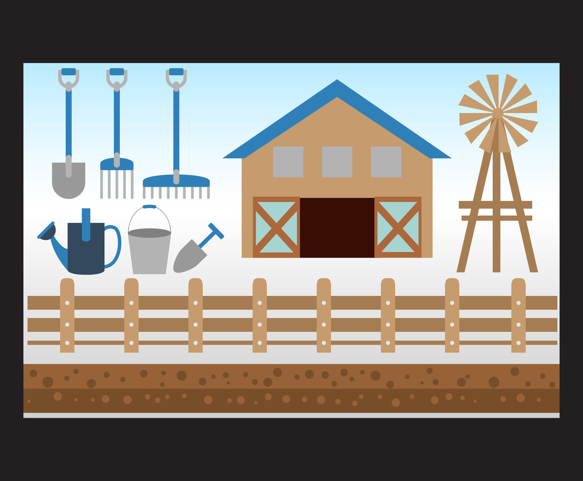 Agriculture and Farming Element Vectors
