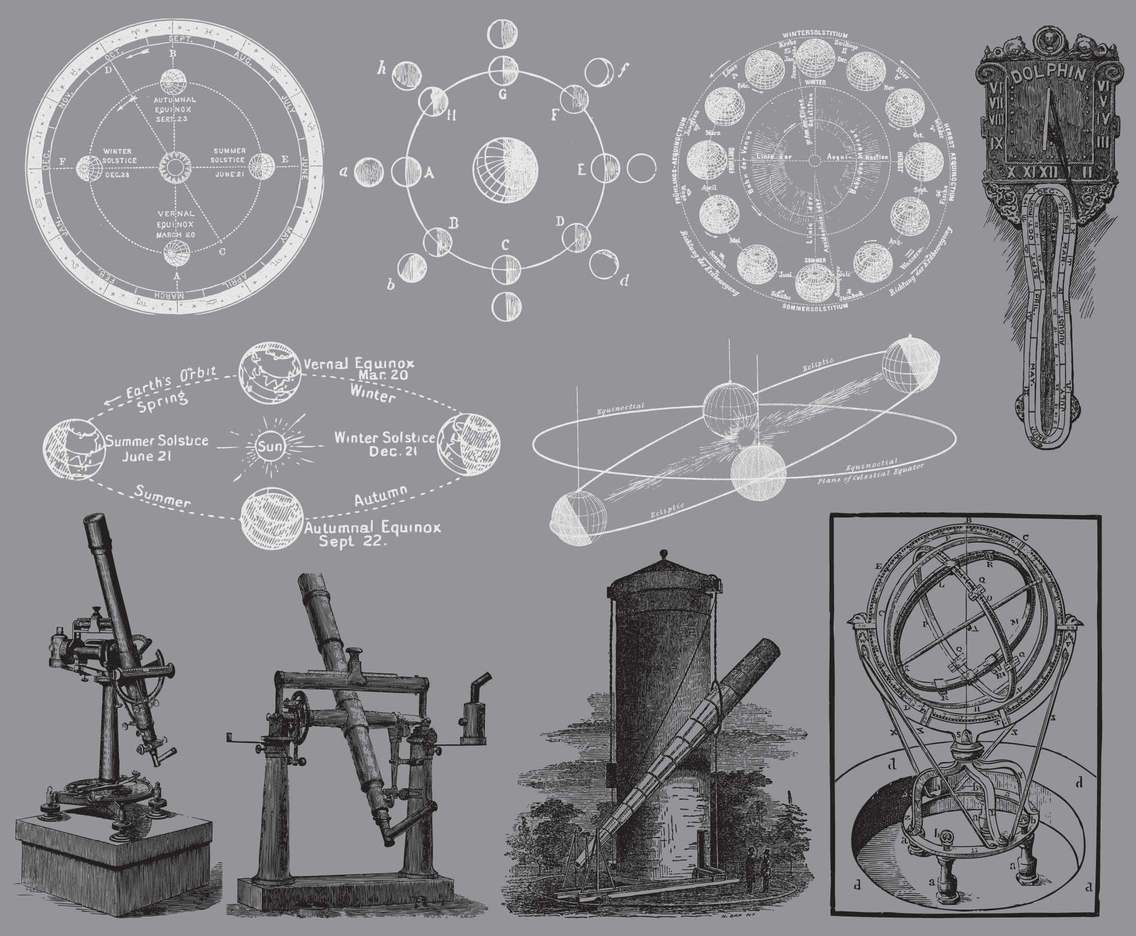 Vintage Astronomy Illustrations