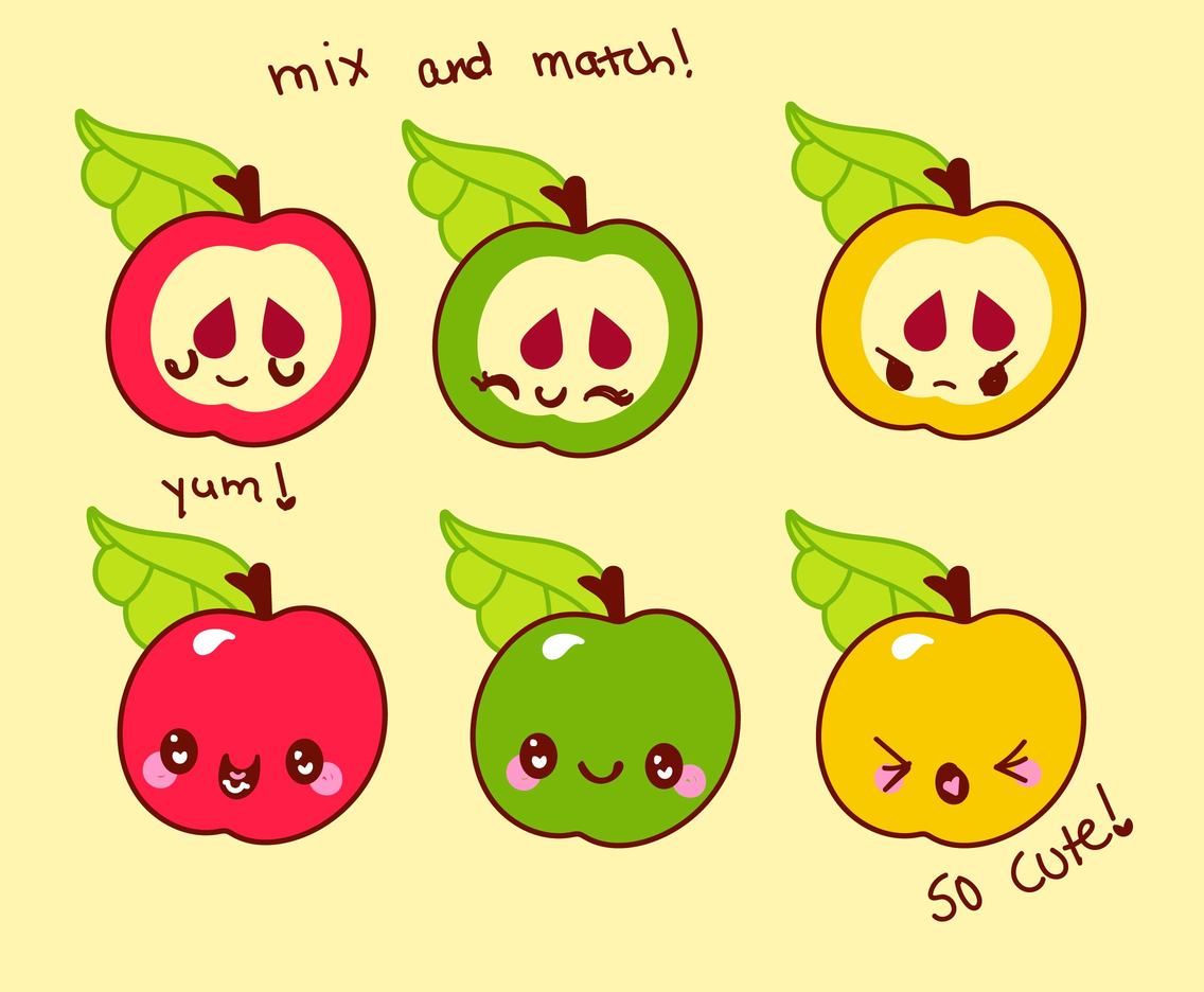 Cute Cartoons: Apple Set