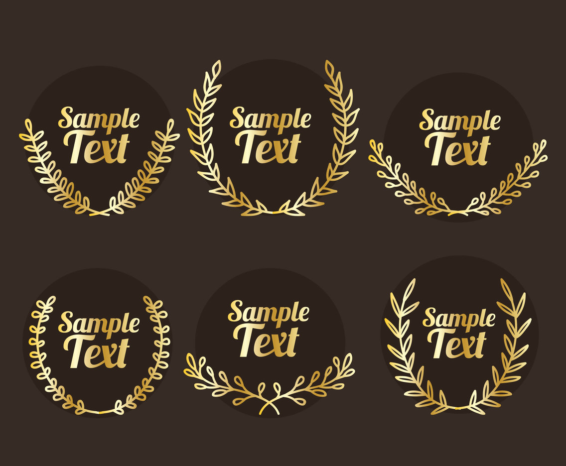Gold Laurel Collection Vector