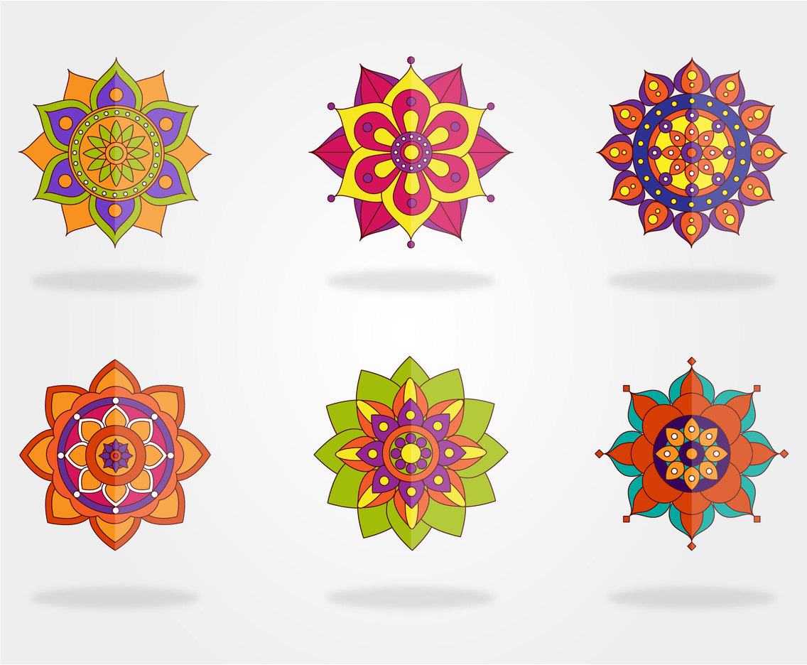 Mandala Round Vector Set
