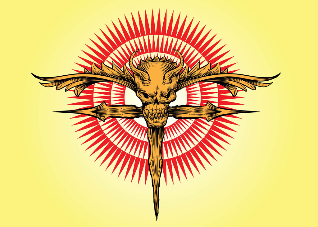 Skull Cross Vector Artwork