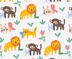 Alphabet and Animal Pattern