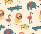 Doodle Pattern of Animals
