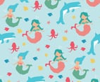 Geometrical Mermaids Shape Pattern