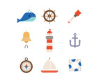 Set of Icons from the Sea