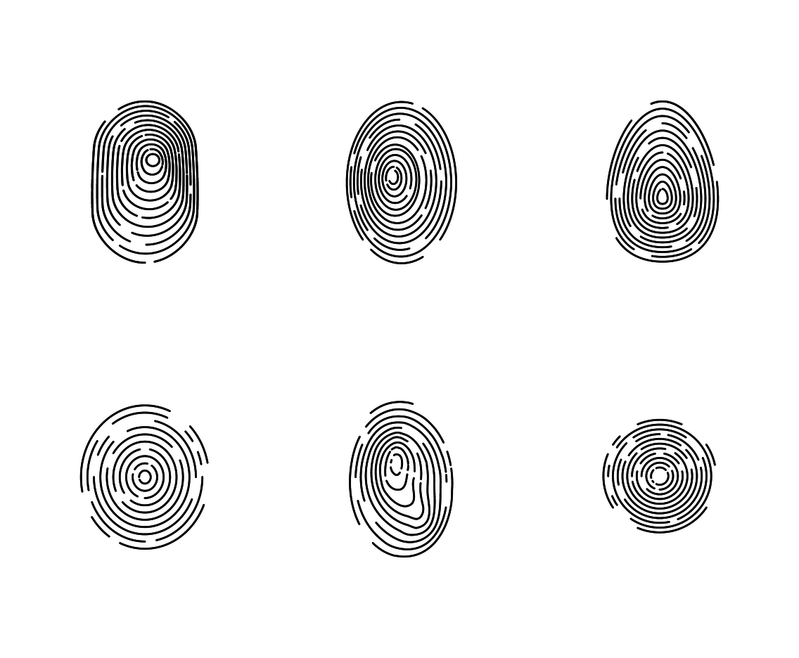 Free Fingerprint Vector