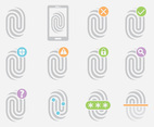 Gray Fingerprint Icons