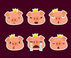 Cartoon Pig Characters Vector