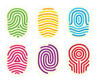 Colorful Fingerprint Collection Vector