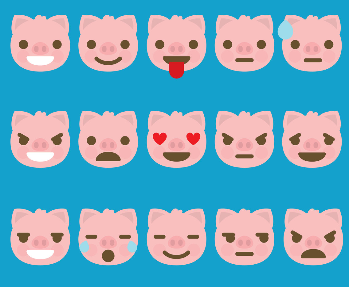 Cute Pig Emoticons