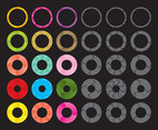 Colorful And Gray Circles