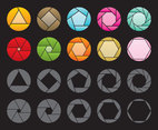 Colorful And Gray Rotation Icons