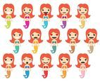 Little Mermaid Emoticons