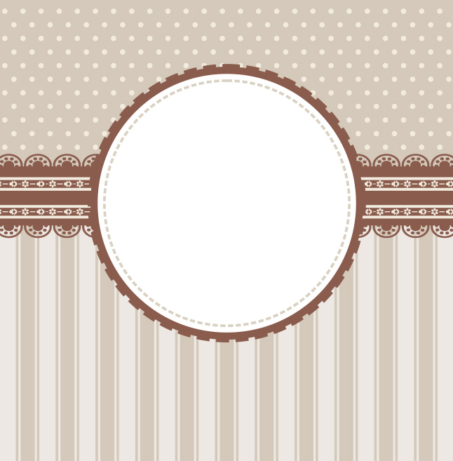 Cute Brown Vintage Scrapbook Background Vector