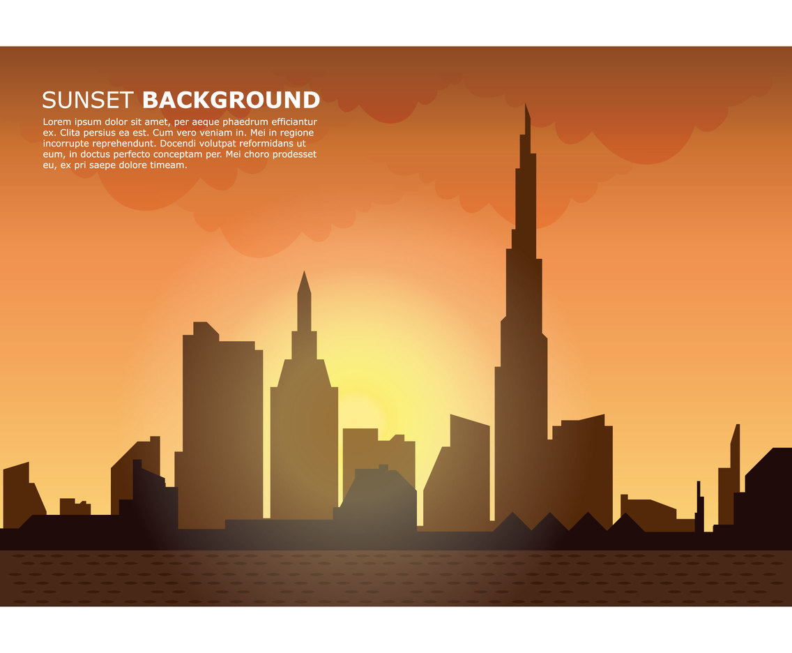City Sunset Background