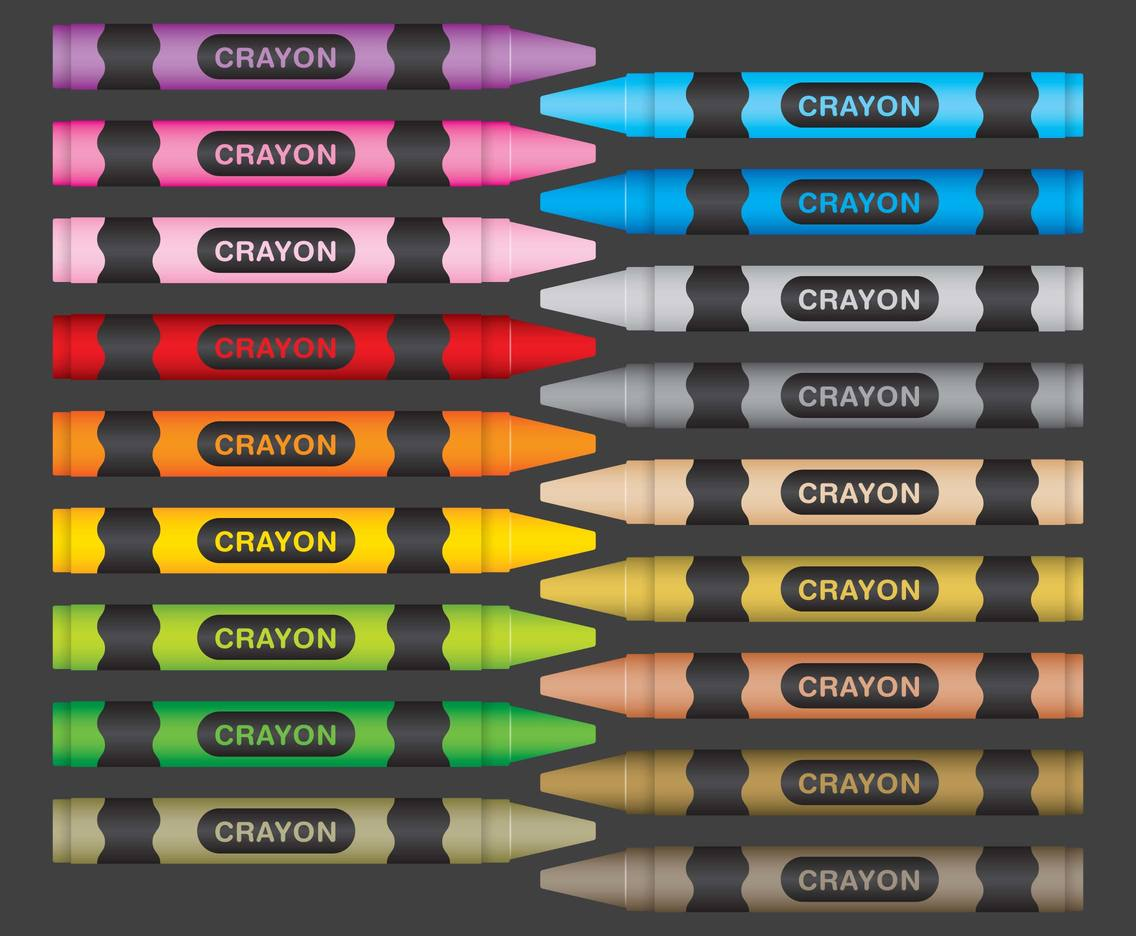 Colorful Set Of Crayons