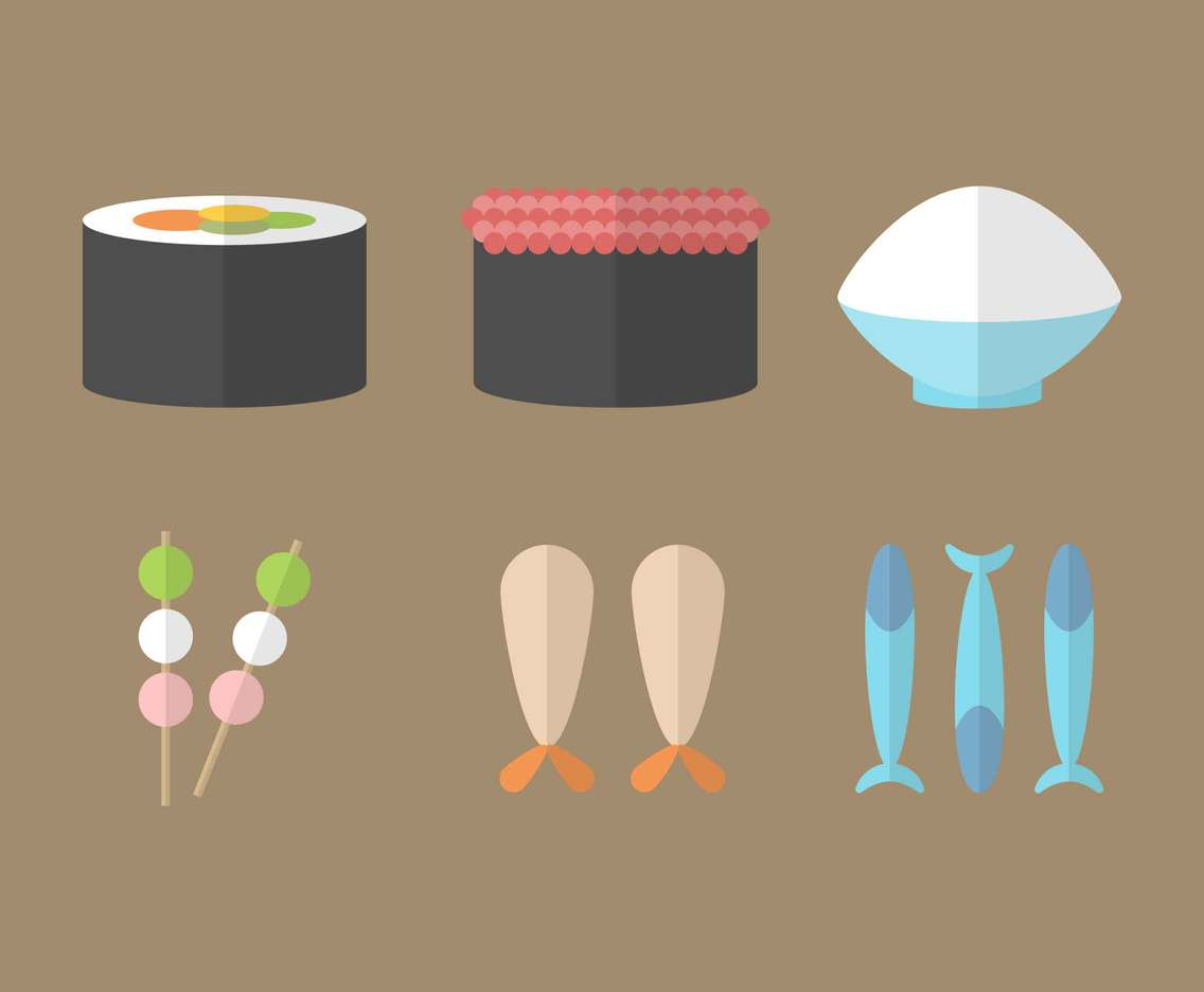 Free Japanese Food Vector