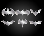 Six Batman Logo Vector Set