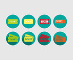 Ticket icon illustration vector