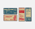 Cinema Ticket Card flat vector design