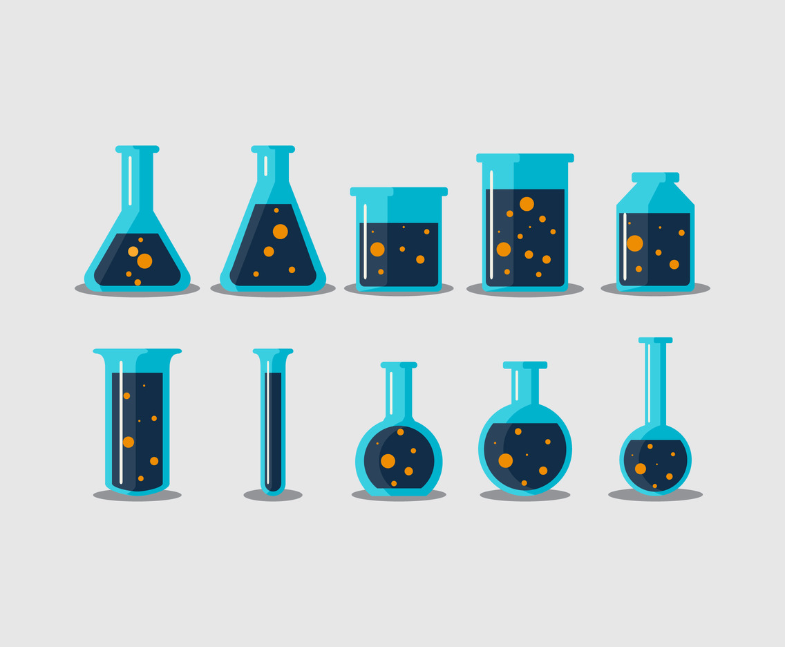 Chemical Science bottle vector