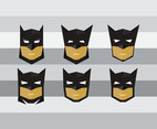 Batman Mask cute flat vector