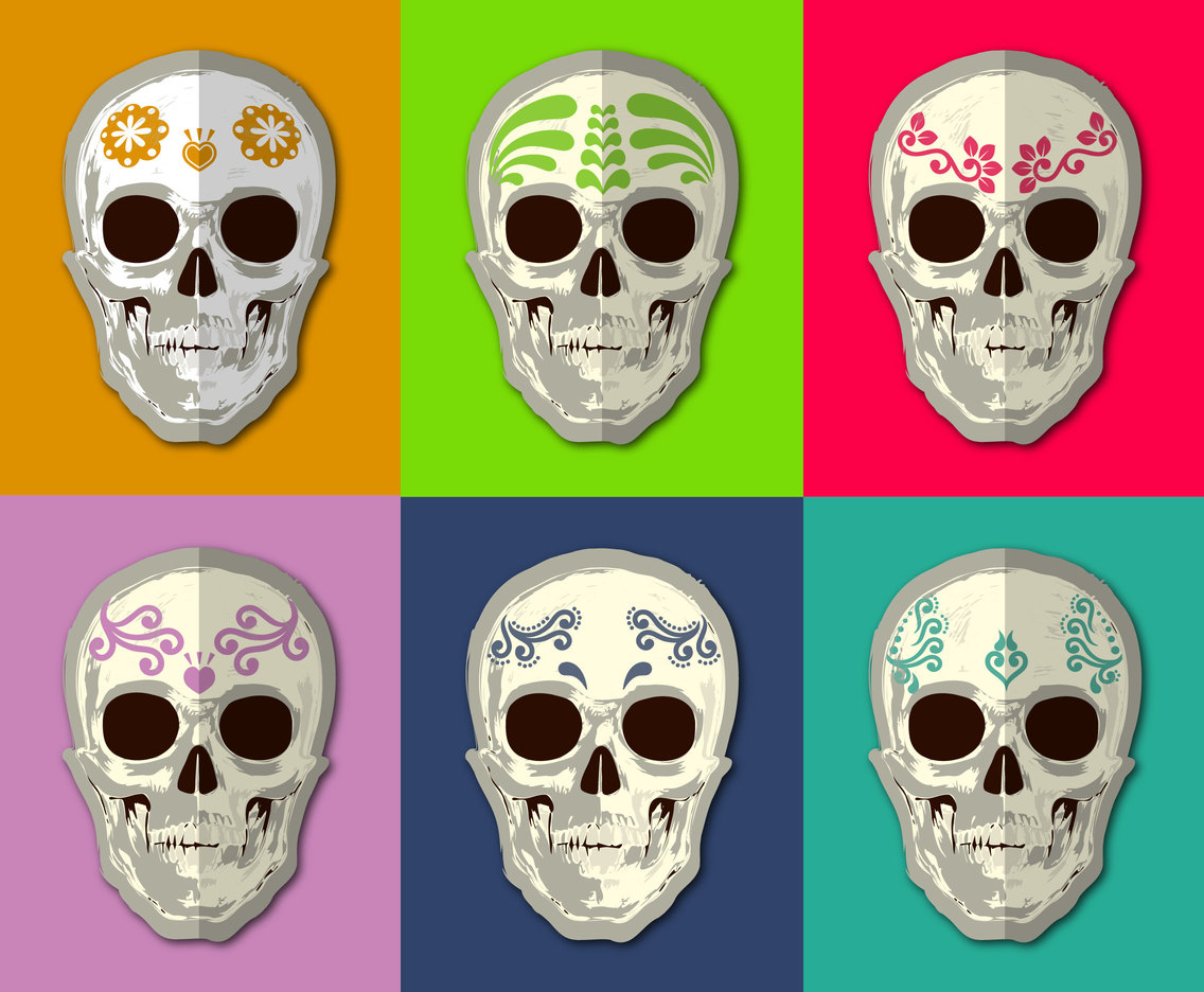 Mexican Skull Vector Set