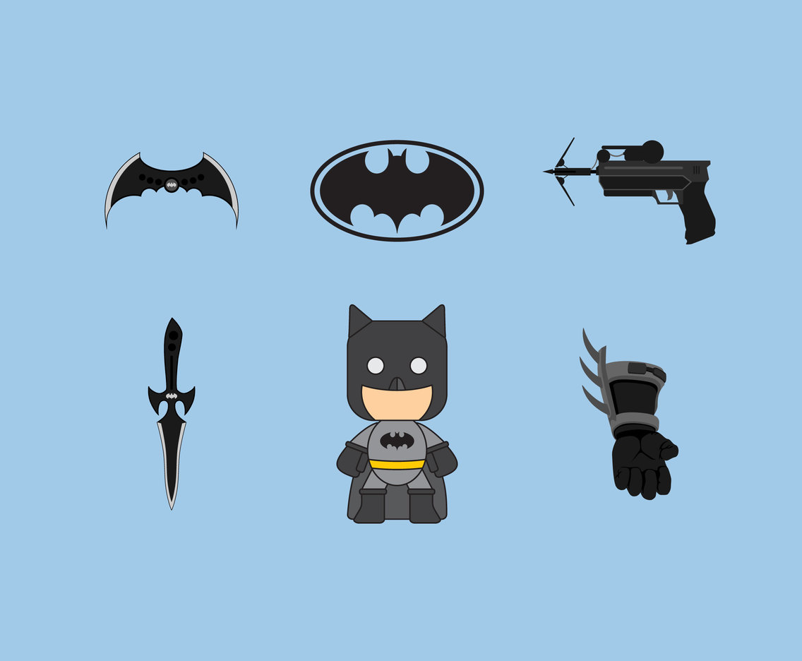 Batman Weaponry Vector