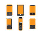 Six Cell Phone flat vector