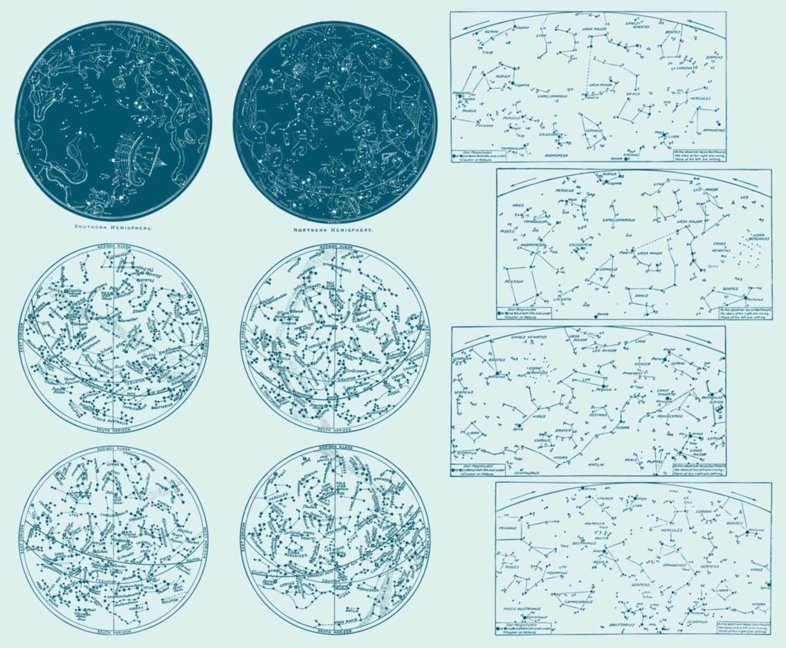 Vintage Constellation Maps