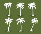Plm Tree Silhouette Vector Set