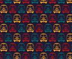 Retro Mini Van Hippie Seamless Pattern