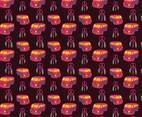 Mini Van Hippie Seamless Pattern