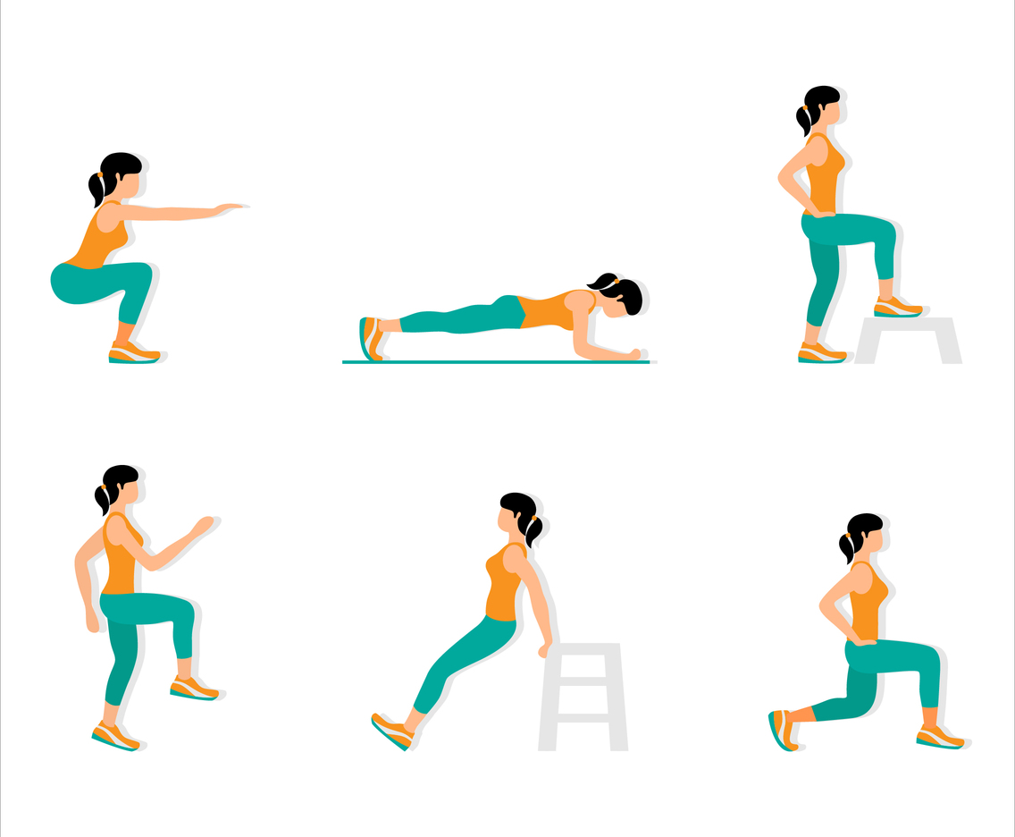 2D Sports Exercise Move