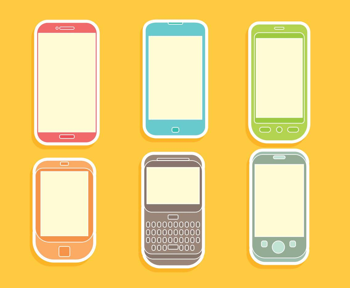 Colorful Cell Phone Icons Vector Vector Art & Graphics ...