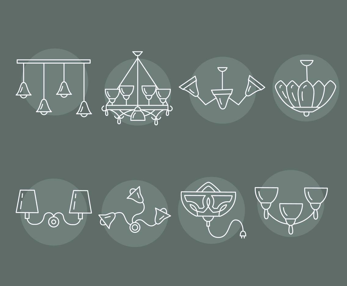 Chandelier Collection Vector