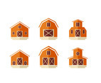 Barn Icon Flat Vector