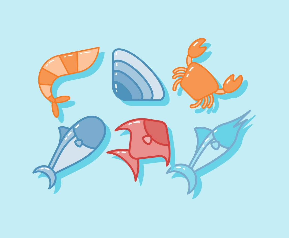 Free Seafood Vector