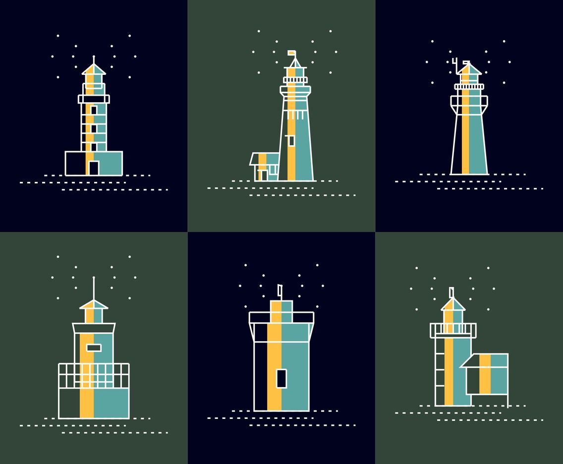 Dark Lighthouse Vectors