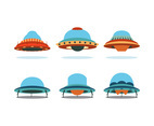 UFO Cartoon Vector