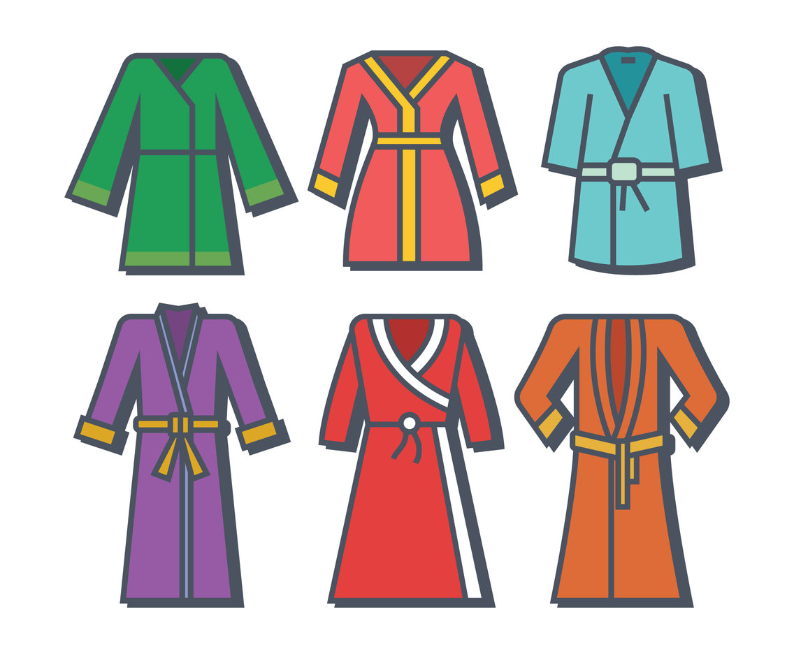 Bath robe vector
