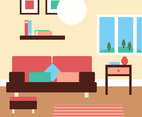 Lovely Living Room Vector