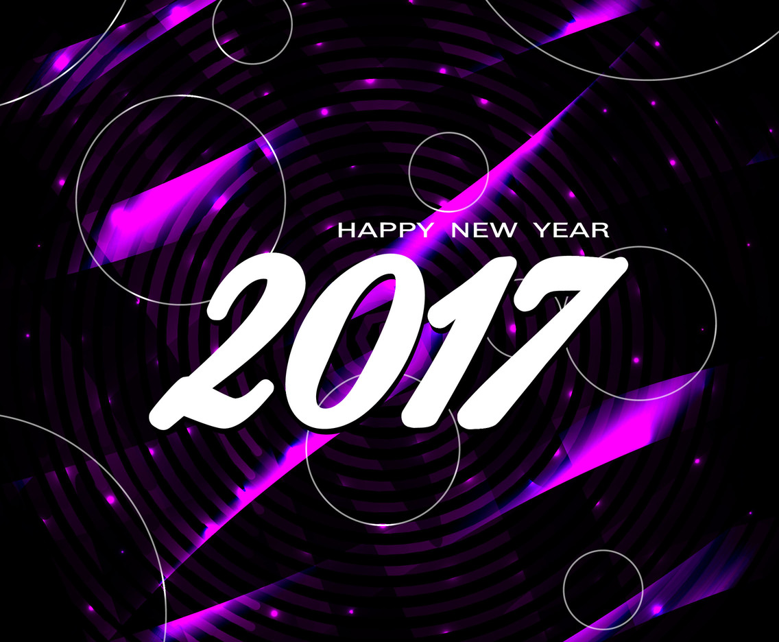 Free Vector Happy New Year 2017 Bright Background